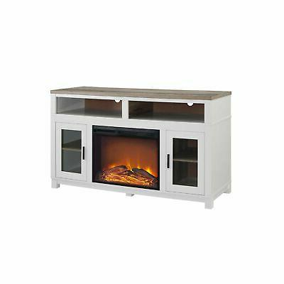 Ameriwood Home Fireplace for Wide White