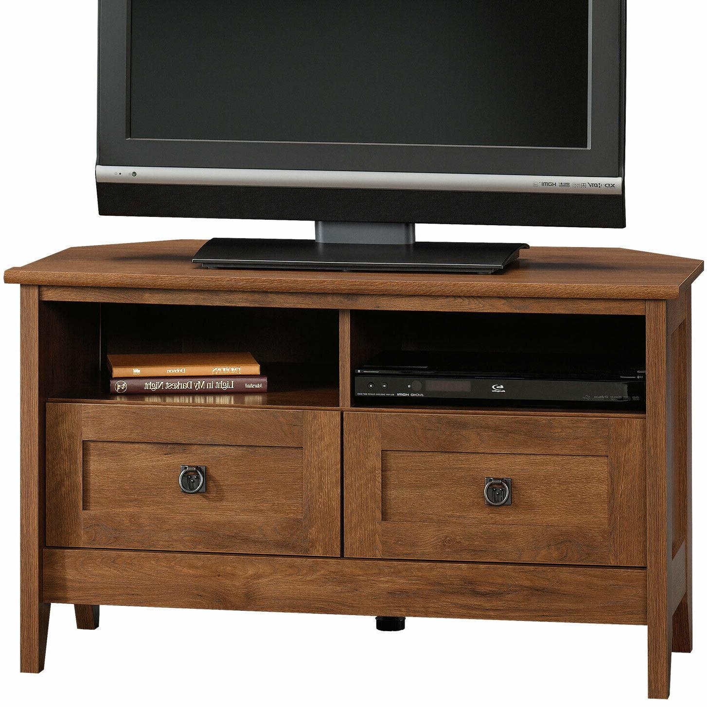 corner entertainment stand 40 wide tvs oiled