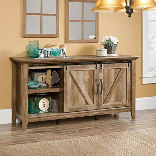 Sauder 420820 Credenza, Tvs to Craftsman finish