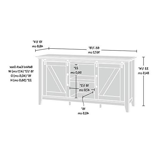 "Sauder Credenza, for Up to 70"", Craftsman finish"