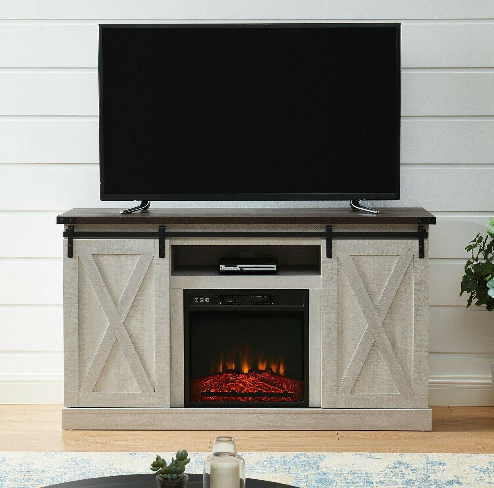 electric fireplace tv stand media storage television