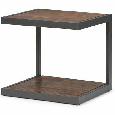 erina end table in rustic natural aged