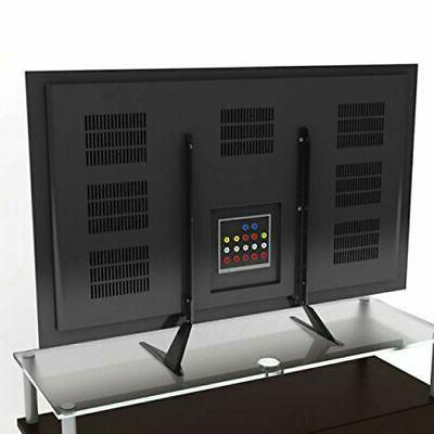 Flat TV Stand Table Top Oled 42 Inch Black Universal