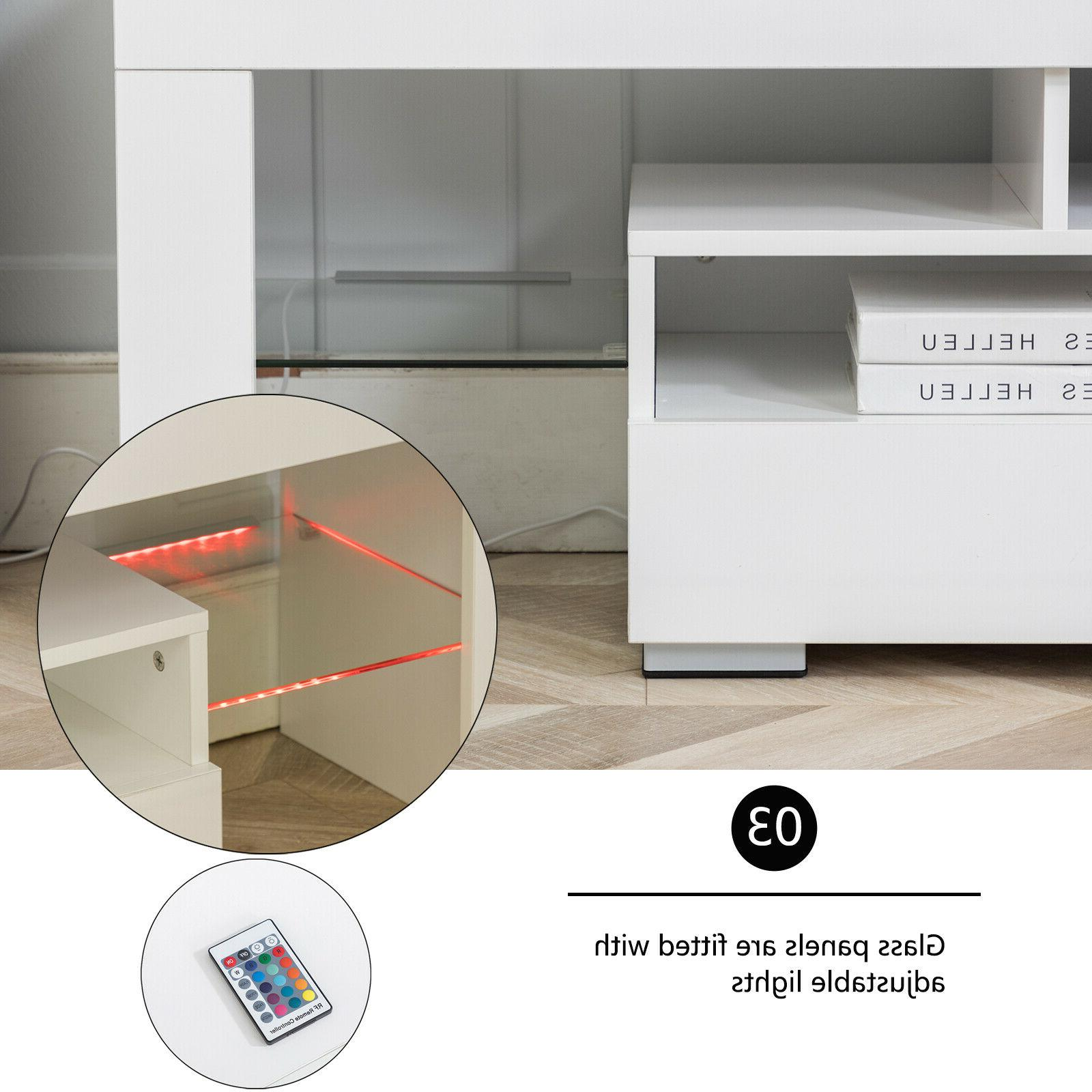 """63"""" Stand Unit Cabinet with LED Drawer Furniture"""