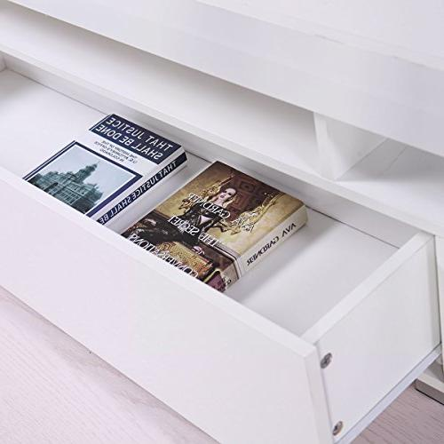 Tobbi Gloss Console with Drawer