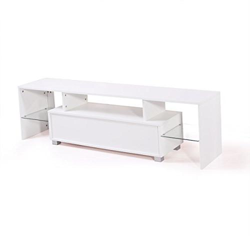 Tobbi High Gloss TV Stand Unit Cabinet Console with Drawer