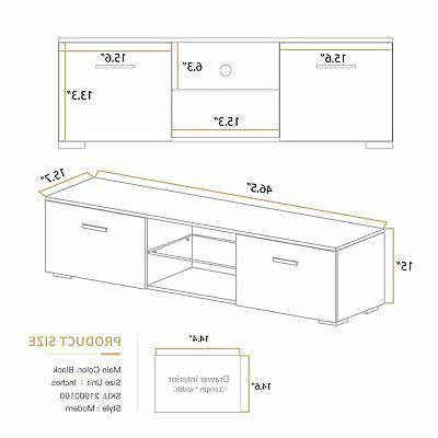 High Stand Unit Cabinet Control LED Drawer BR