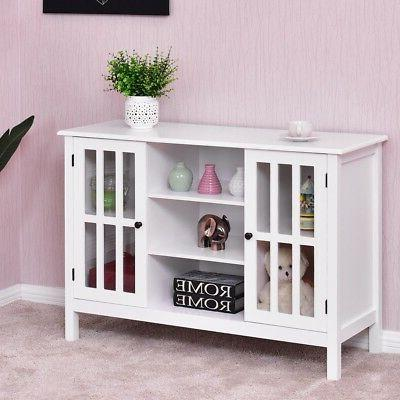 Home Wooden Storage Organizer Cabinet Room TV Stand Holder M