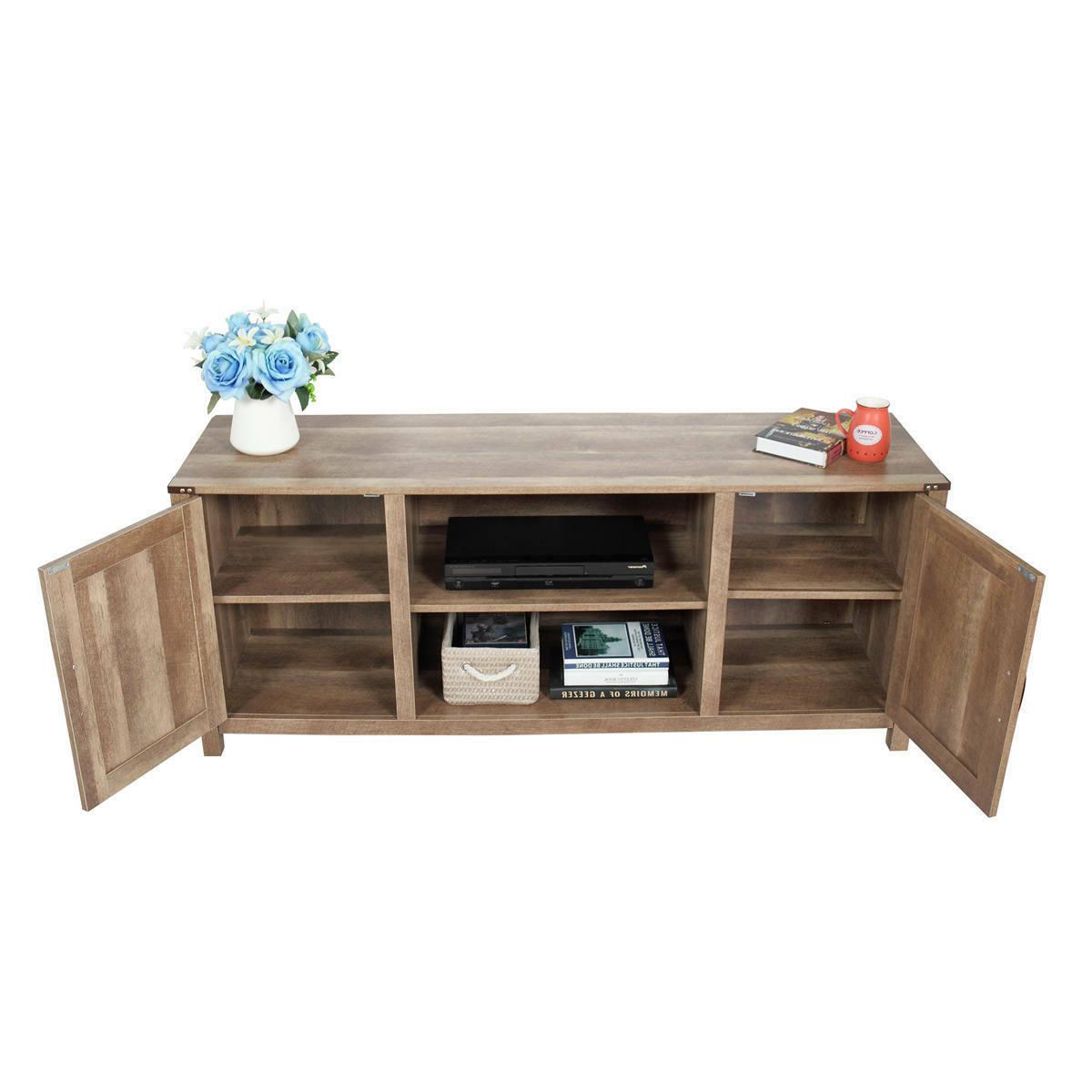 """Industrial 58"""" Rustic TV Stand Media Center"""
