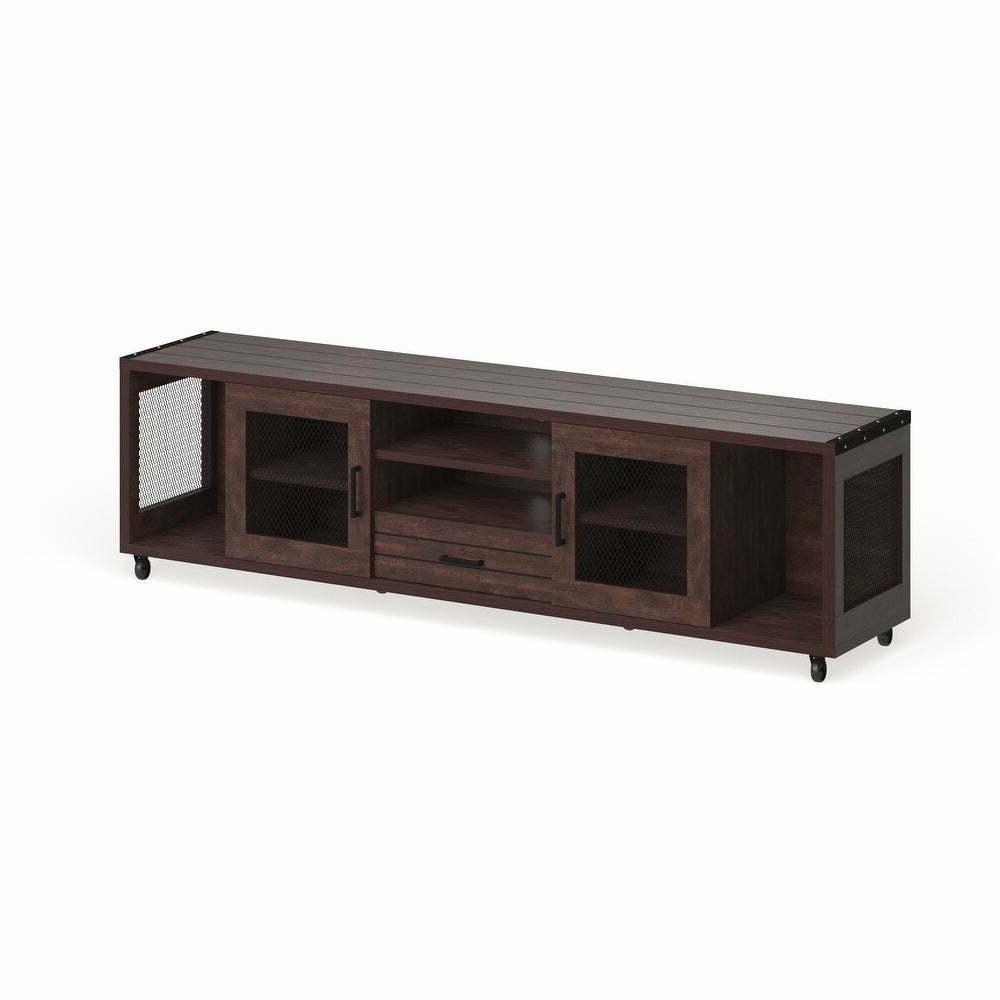 Wood Media Stand Console