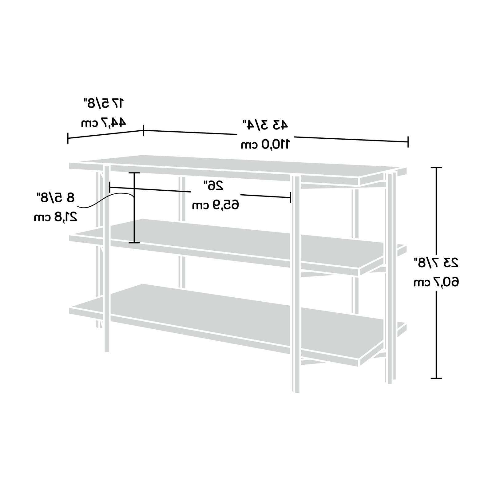 Industrial TV Stand Entertainment Display Wooden