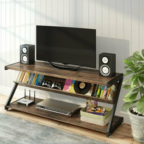 Industrial Rustic TV Console Table for Home Living Room LITT