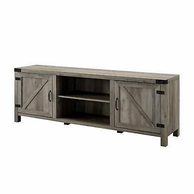 "Manor Modern Barn TV for TV's up to 78"" - Grey Wash"