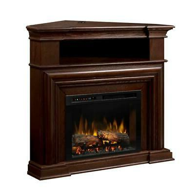 montgomery media console electric fireplace with logs