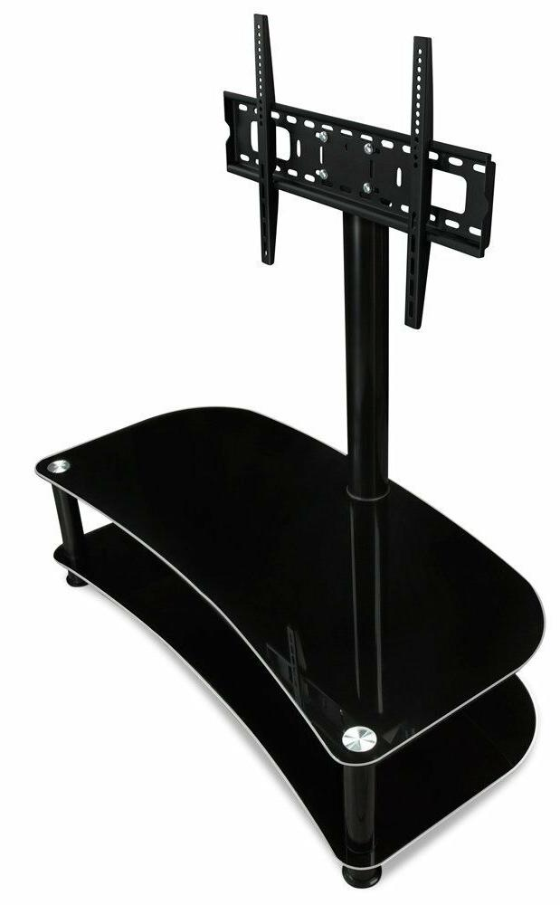 """Mount-It! Glass TV Stand 32-70"""" Capacity"""
