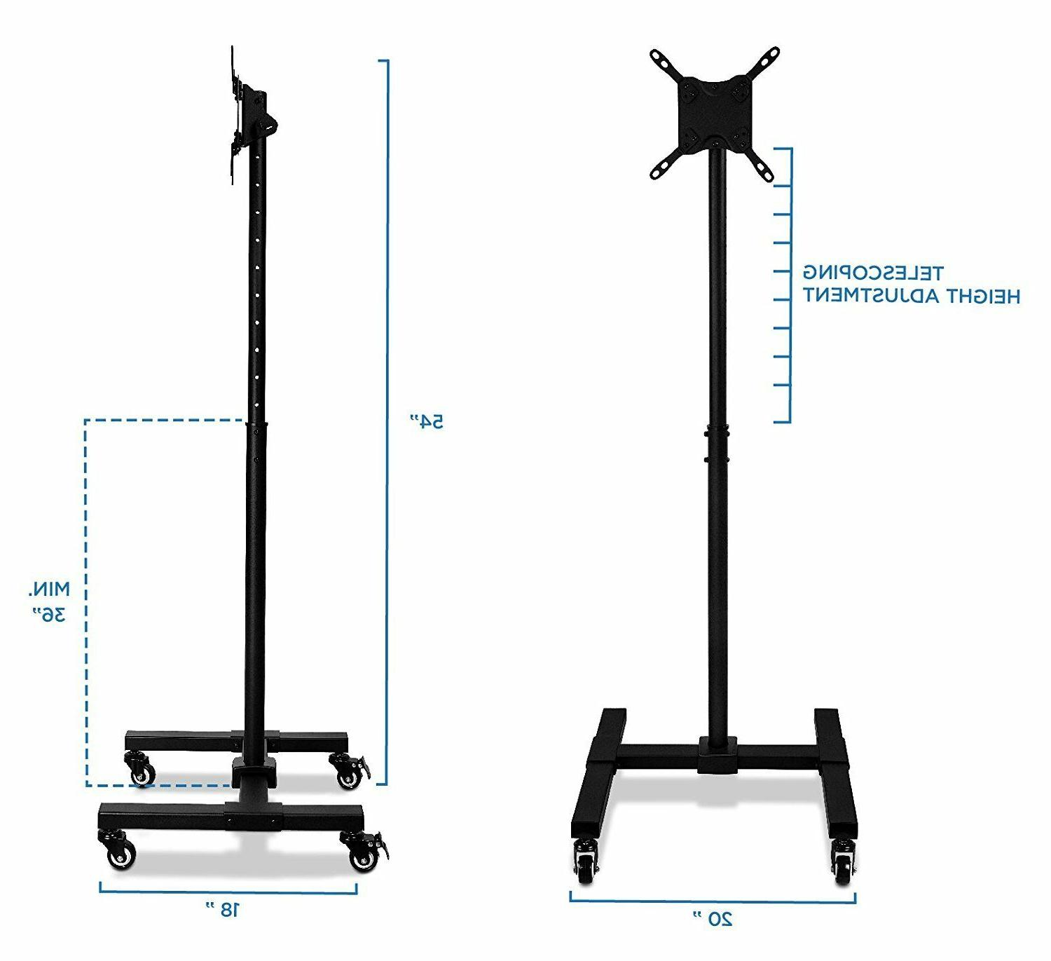 """Mount-It! Mobile TV Stand with Height 28"""" 32"""" 40"""" 42"""" Inch"""