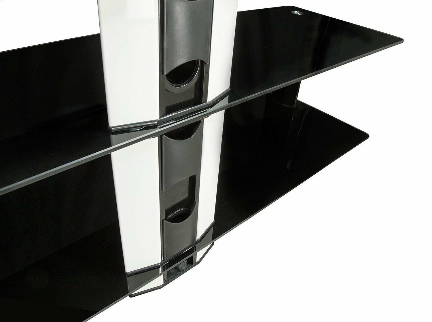 """Mount-It! TV with Mount Center Glass Shelves 32"""" 60"""""""