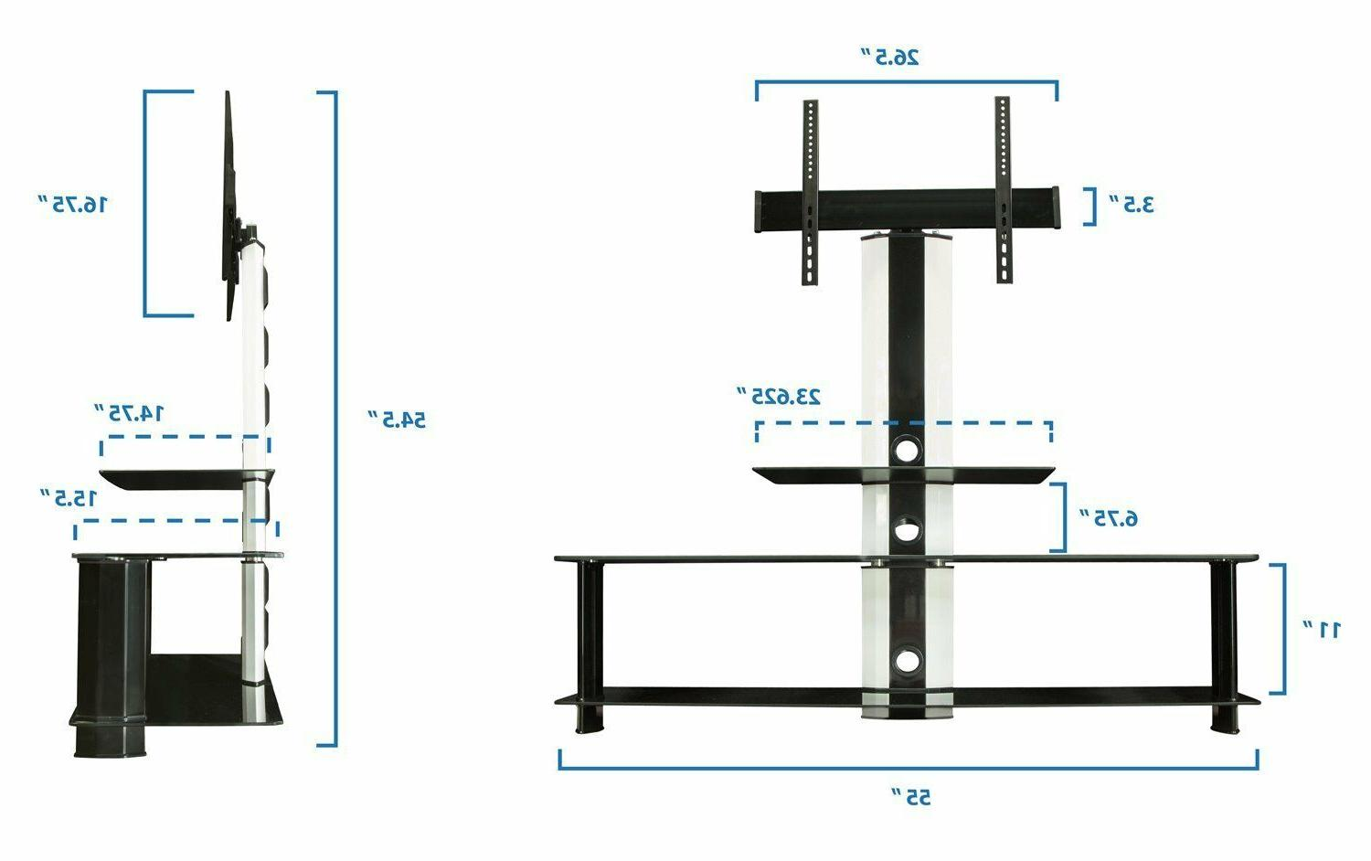 """Mount-It! with Mount Glass Shelves 60"""""""
