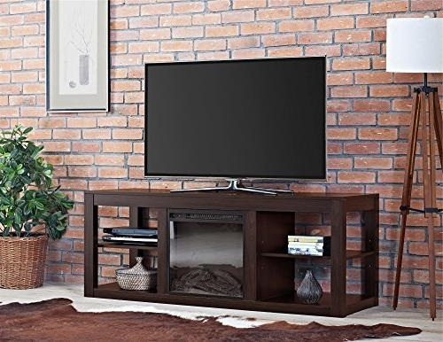 """Ameriwood Home Console Fireplace to 65"""", Espresso"""