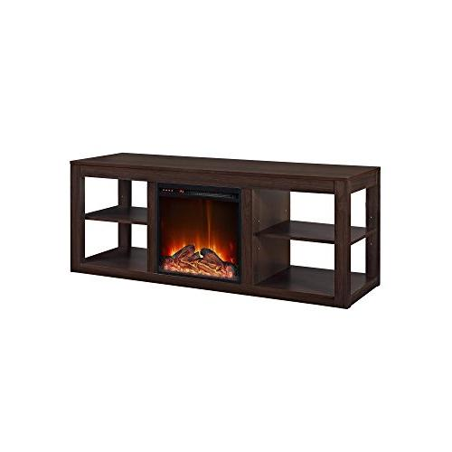 parsons console fireplace