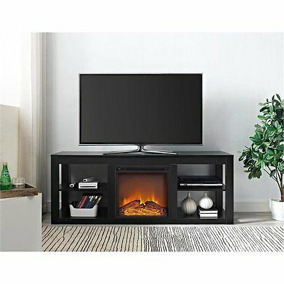 Ameriwood Parsons Electric Fireplace in Black