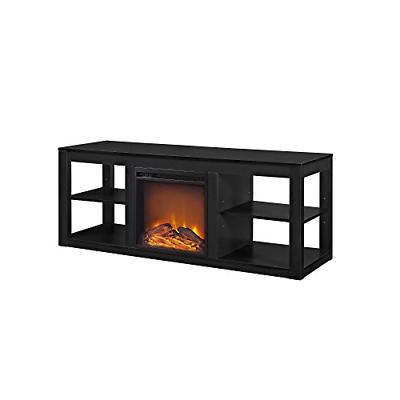 parsons electric fireplace tv stand