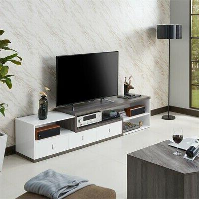 """Furniture America 83"""" TV in Gray and"""