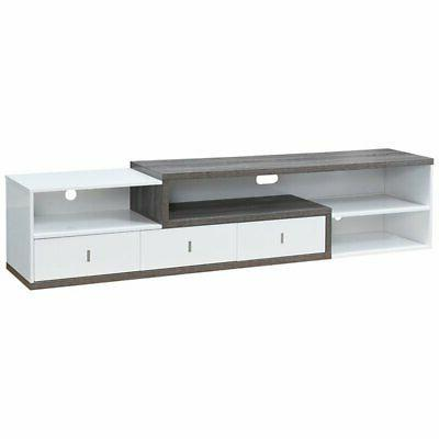 roxi 83 tv stand in gray