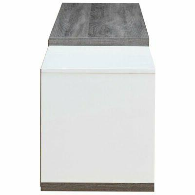 """Furniture of America 83"""" Stand in Gray and White"""