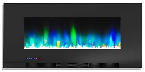 Cambridge TV Stand LED Flames, Rock Display, and Remote CAM6938-1COF