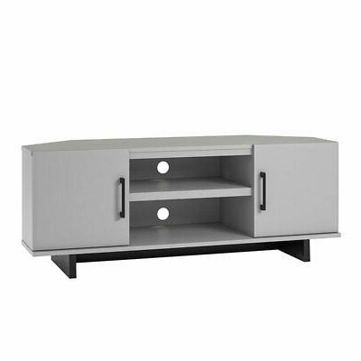 Ameriwood Home Southlander Corner TV Stand up to Dove Gray