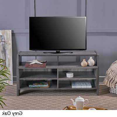 Thaddeus Farmhouse Rustic Faux Wood TV Stand Christopher