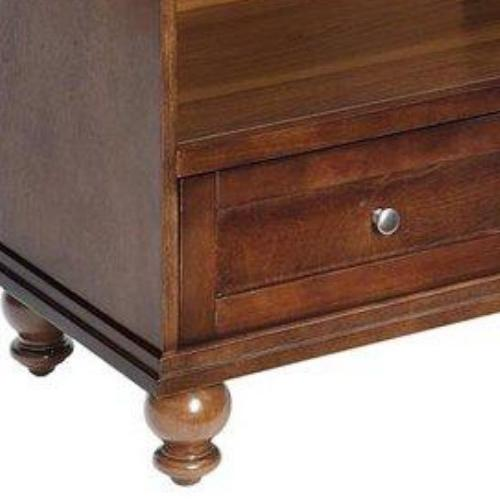 Transitional Highboy Stand Storage Sophisticated