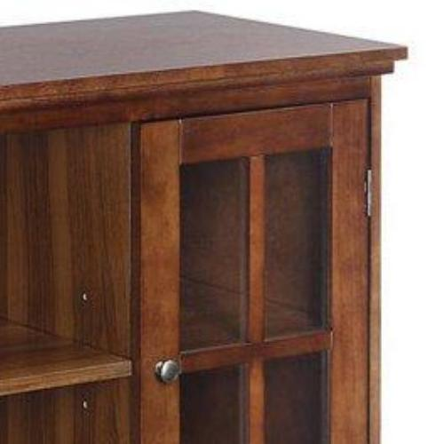 Transitional Highboy TV Stand Storage Console Sophisticated