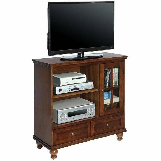 Transitional Highboy Stand Storage Cabinet Sophisticated