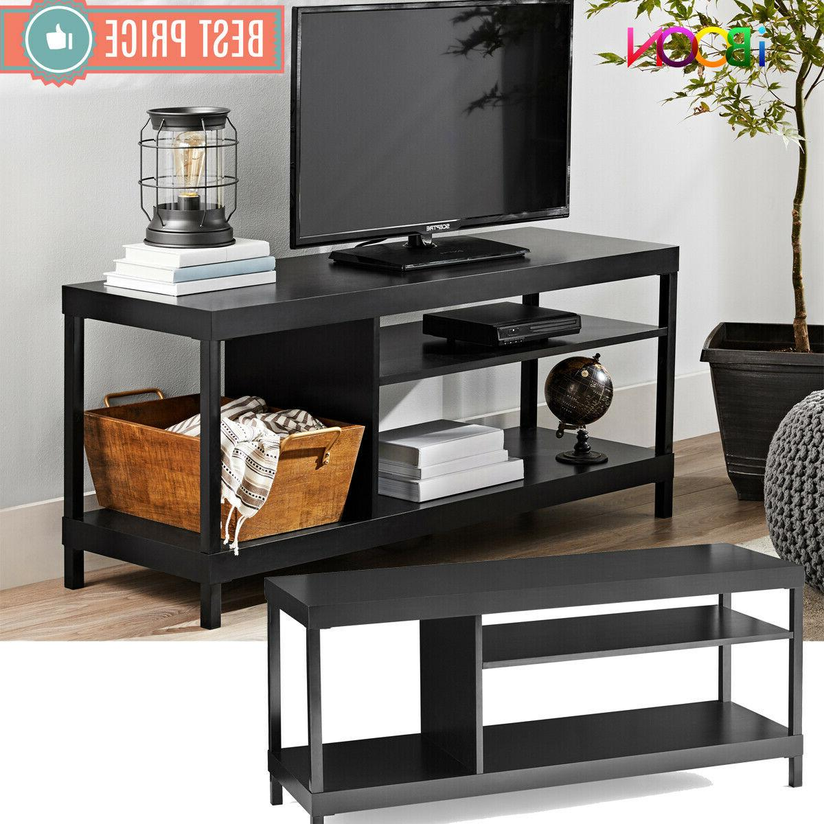 tv stand 42 inch solid wood black