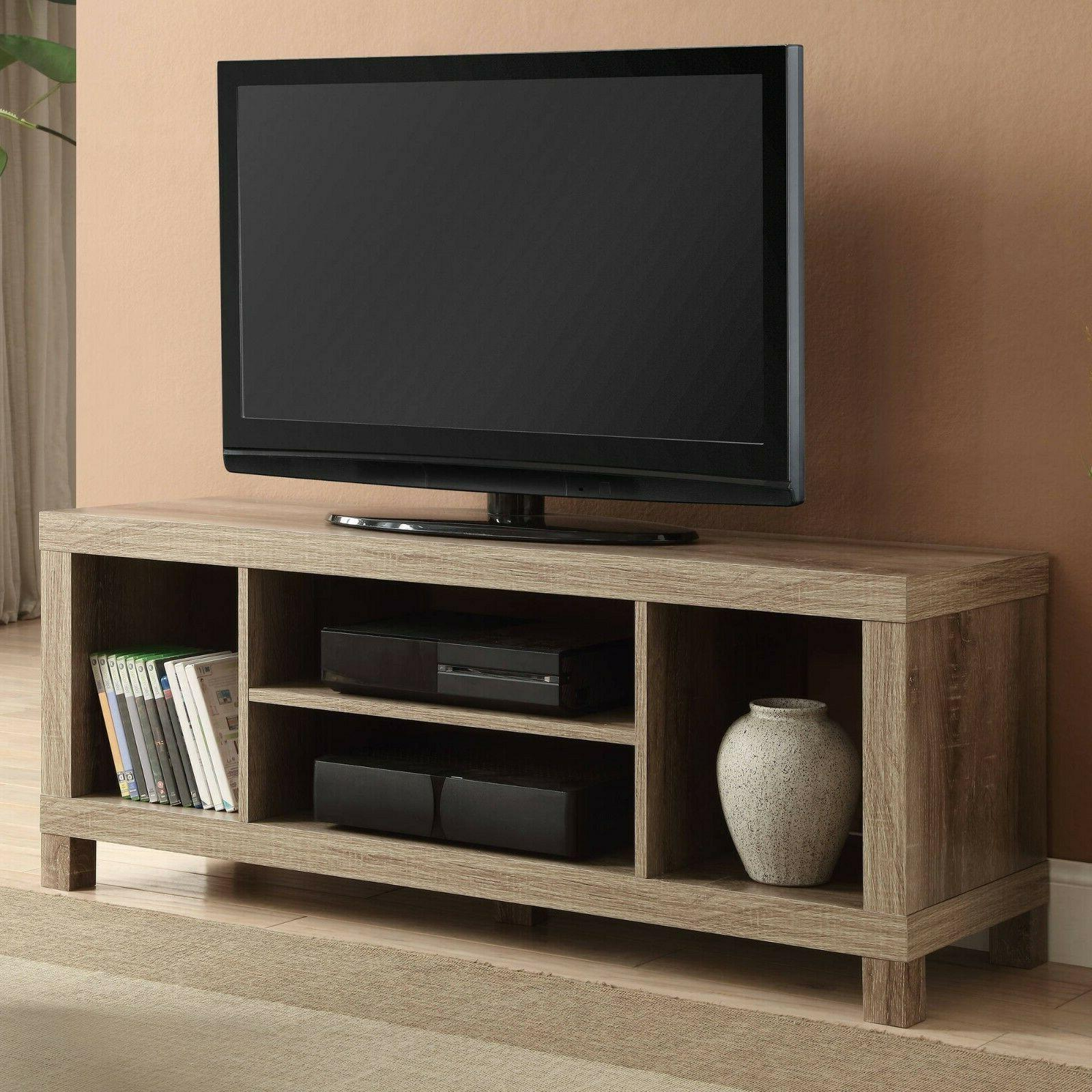 """TV Stand for TVs up to 42"""", Multiple Colors rustic oak color"""