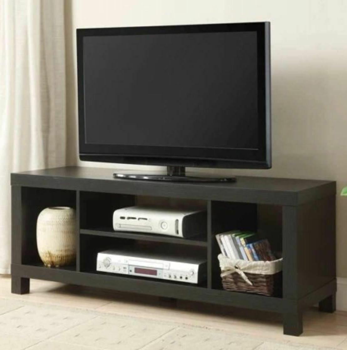 "TV Stand for TVs up to 42"" True Black Oak Sturdy Constructio"