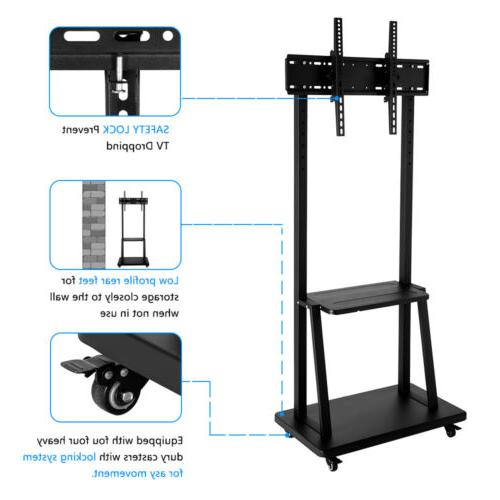 TV Stand Mobile Cart Mount Storage Shelf for 46 50 60 70