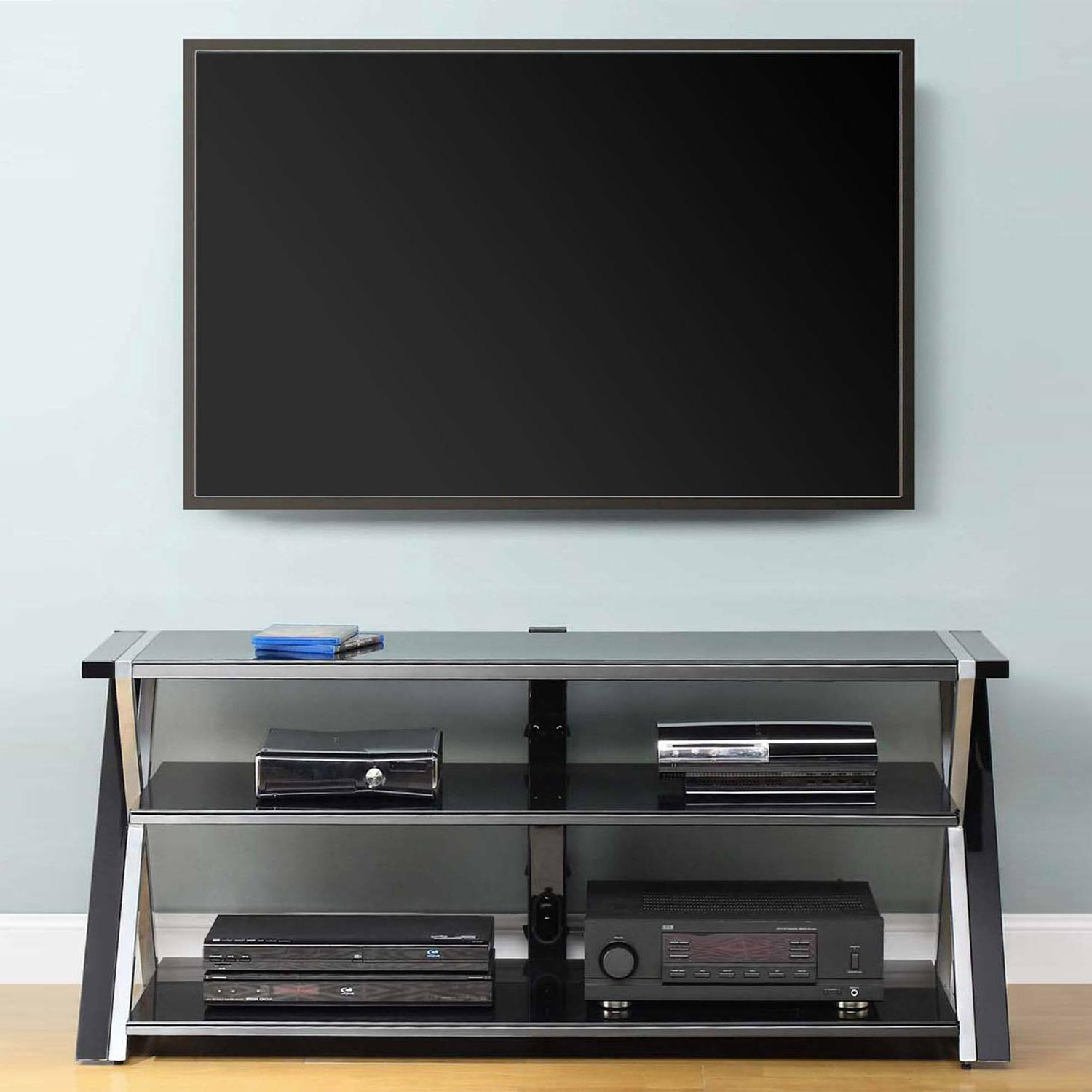 """TV Stand For Flat Screens 65"""" Entertainment Center Cabinet T"""