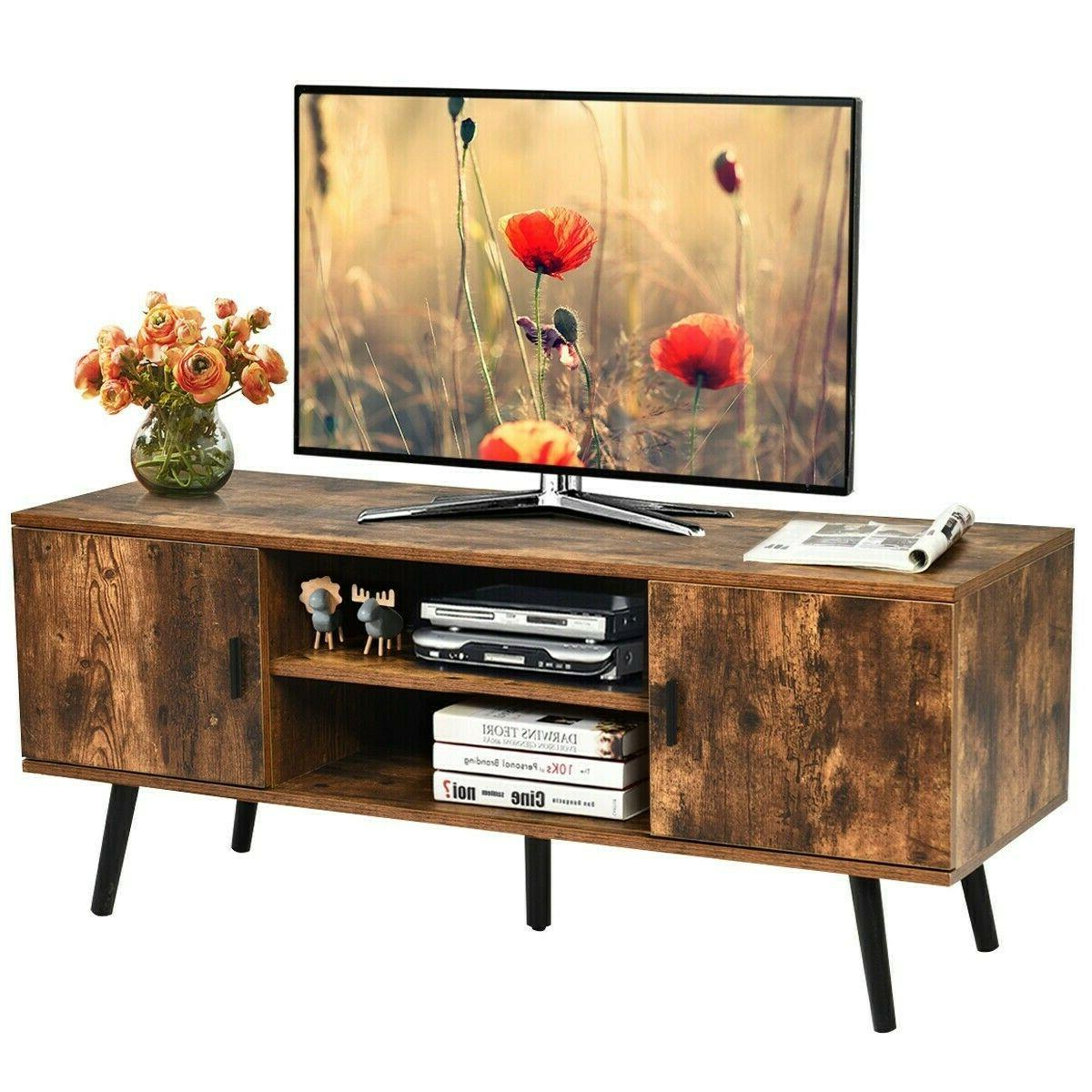 Wood Cabinet Living Table
