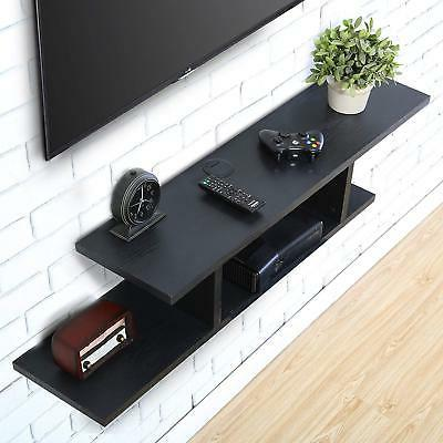 Wall Mount Entertainment Center TV Floating Shelves Wood