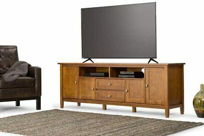 """Warm Shaker 72"""" Media in Golden up 80 inches New"""