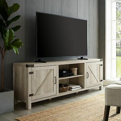"""Delacora WE-BD70BDSD 70"""" Wood TV Stand with Barn"""