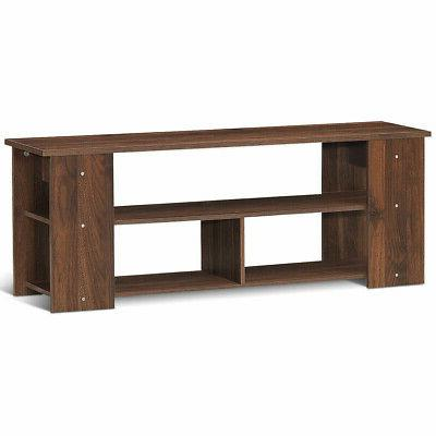 """Wood Storage Cabinet Stand for TVs up to 50""""-Coffee"""