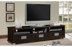 Large TV Cabinet Bench Stand Console Media Center Storage Wo