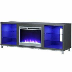 """Ameriwood Home Lumina Fireplace Stand for TVs, up to 70"""", Gr"""
