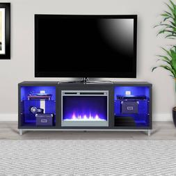 """Ameriwood Home Lumina Fireplace TV Stand For TV up To 70"""""""