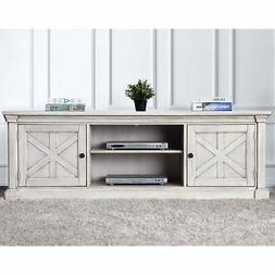 Lyle Rustic Antique White TV Stand by FOA Antique White
