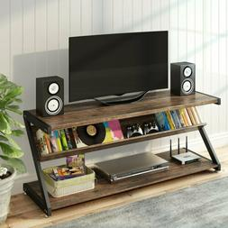 Multiuse TV Mount Stand 60 Inches 3-Tier with Shelves Fits L